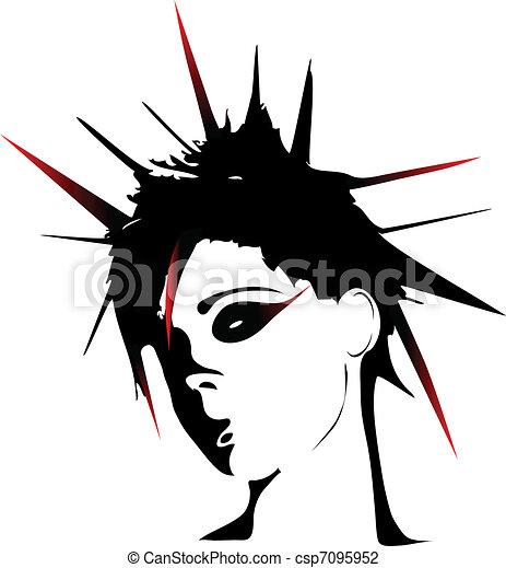 illustration vecteur de coiffures  femme  punk woman clip art music instruments clip art music in scripture