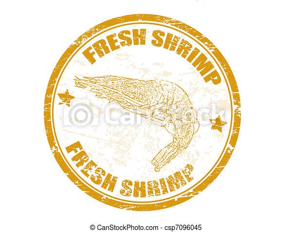 fresh shrimp stamp - csp7096045