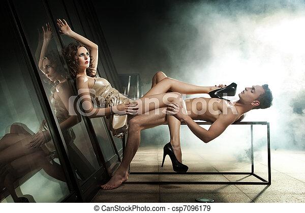 Elegant couple - csp7096179