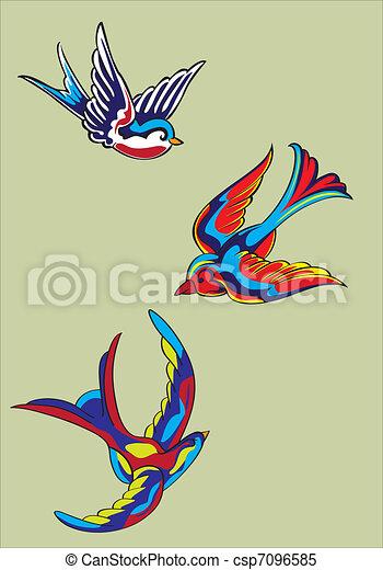 Vecteur clipart de mouche couleurs oiseaux oiseaux mouche couleurs csp7096585 recherchez - Jeux d oiseau qui vole ...