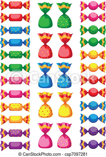 Vector Clip Art Of Funny Sweets Candy Illustration Of A