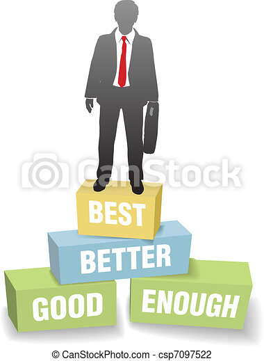 Business person good better best achievement - csp7097522