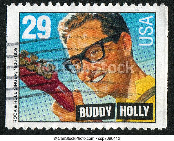 Buddy Holly - csp7098412