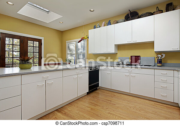 Kitchen with skylight - csp7098711