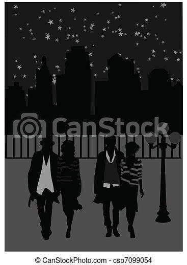 Night walk - csp7099054
