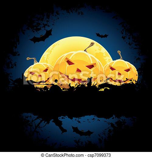 Grungy Halloween background - csp7099373
