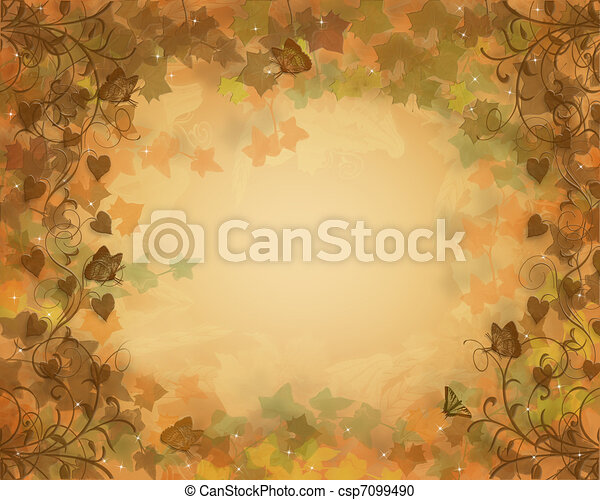 Autumn Fall Background leaves - csp7099490