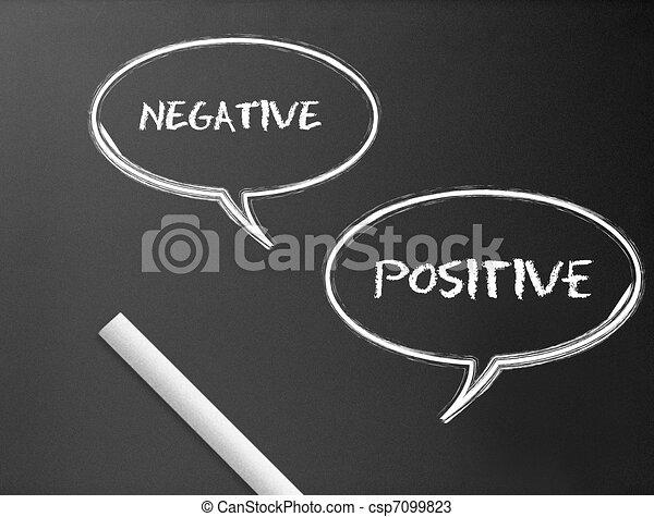 Chalkboard - Negative, Positive - csp7099823
