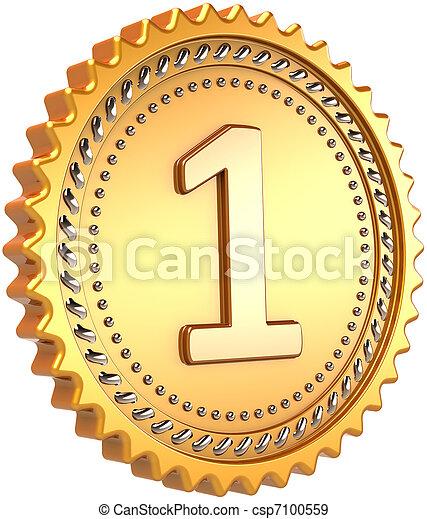 Golden medal award 1st place - csp7100559