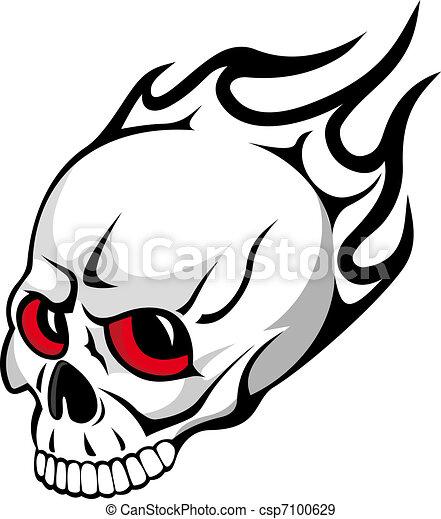 Evil skull - csp7100629