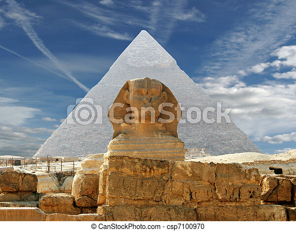 The Sphynx and Pyramid - csp7100970