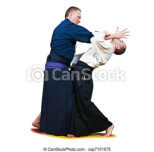 Sparring of two jujitsu fighters - csp7101675
