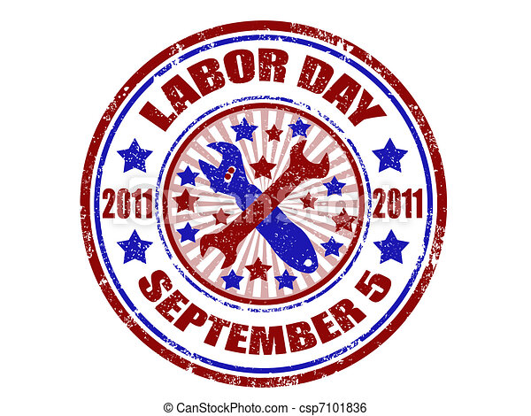 Labor day stamp - csp7101836