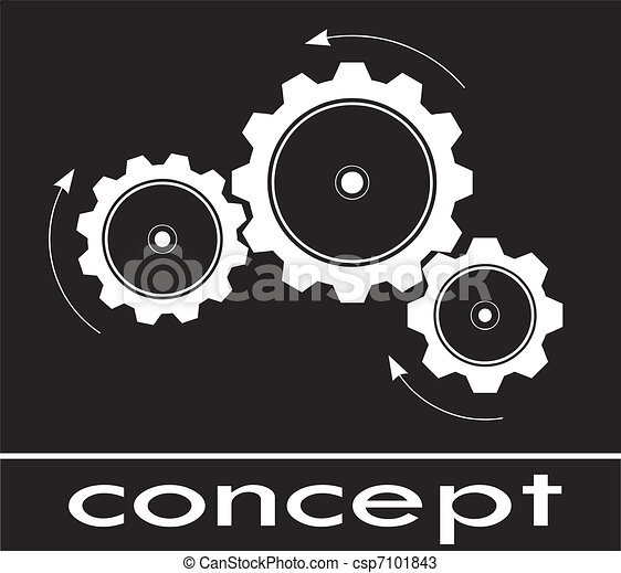cogwheel sketch think and concept - csp7101843
