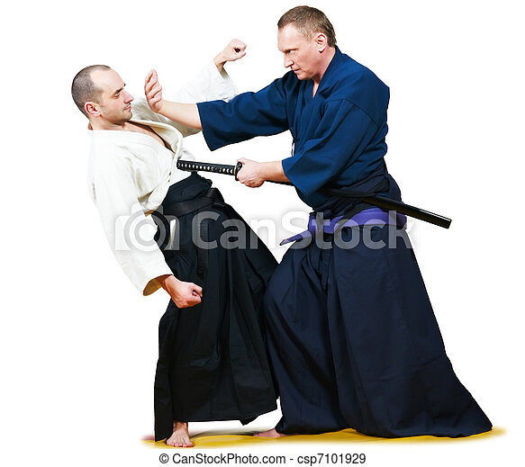 Sparring of two jujitsu fighters - csp7101929
