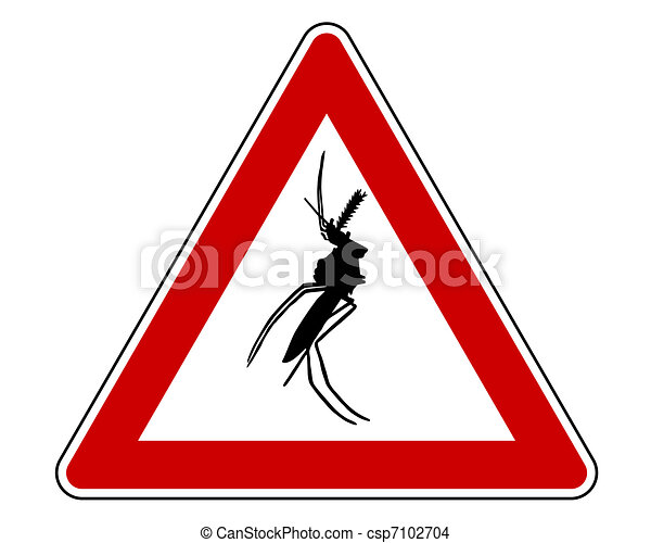 Mosquito warning sign - csp7102704