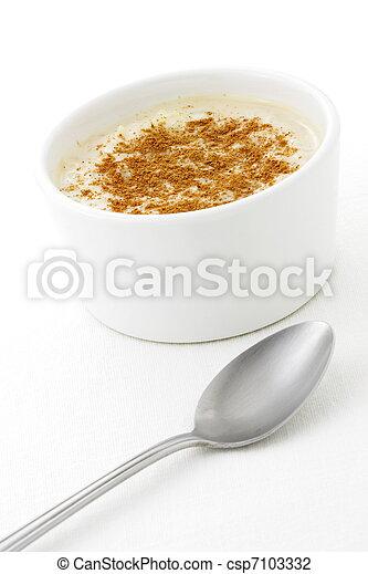 delicious rice pudding   - csp7103332