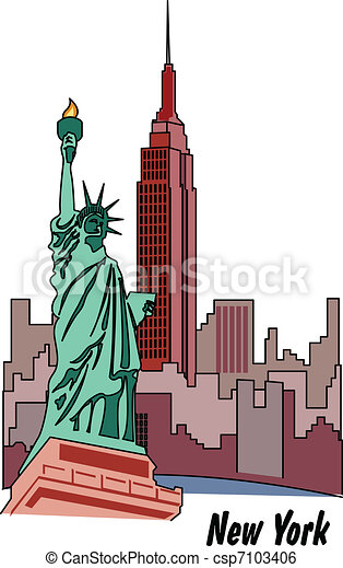 Statue Of Liberty In New York - csp7103406