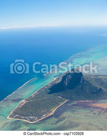 Aerial view Mauritius - csp7103928