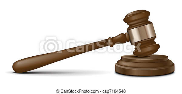 Vector judge gavel  - csp7104548