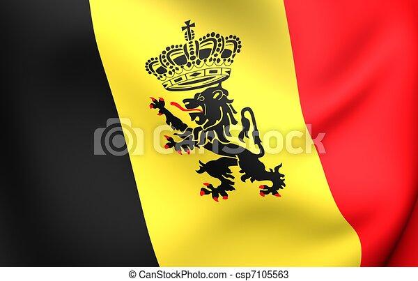 Government Ensign of Belgium - csp7105563