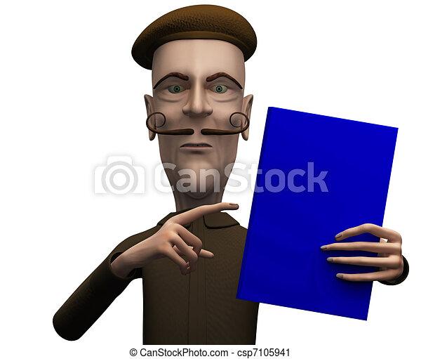 Teacher demand critical attention on certain book - csp7105941