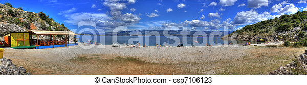 Mediterranean beach - csp7106123