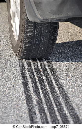 ABS Emergency braking tracks  - csp7106574