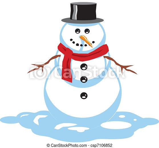 Illustrazioni vettoriali di pupazzo di neve pupazzo for Piani di garage free standing