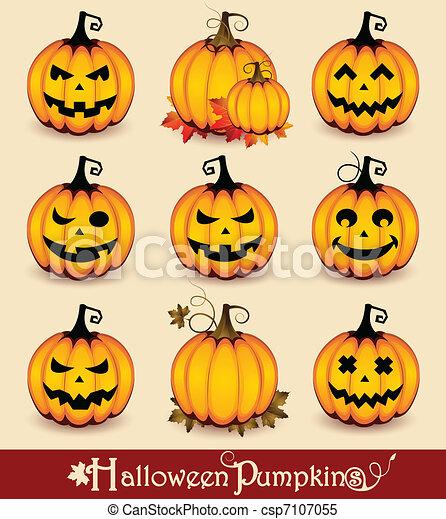 Halloween Pumpkins - csp7107055
