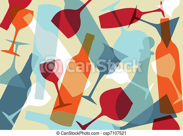 Beverage texture background - csp7107521