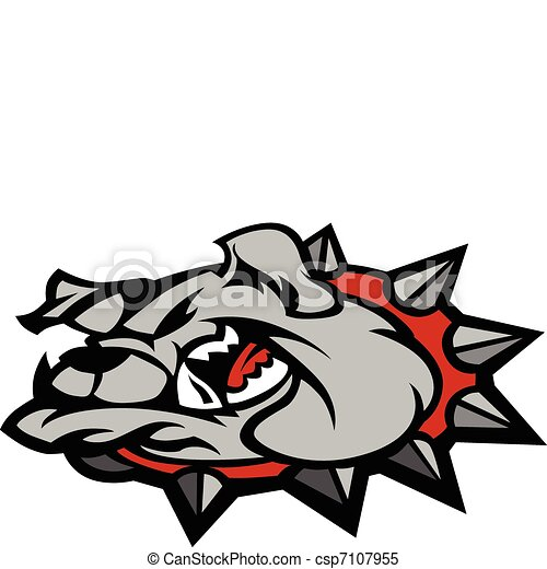 Bulldog Mascot Head Illustration - csp7107955