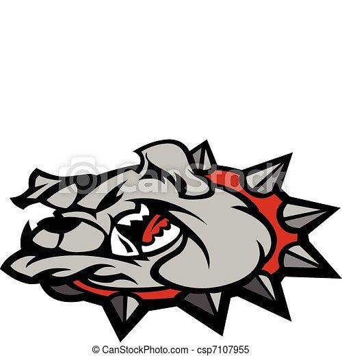Bulldog Mascot Head Illustration - csp7107955