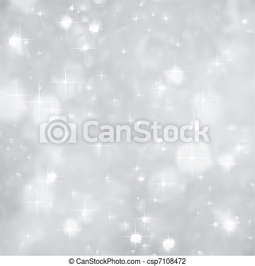 Silver Sparkles background christmas. Vector - csp7108472