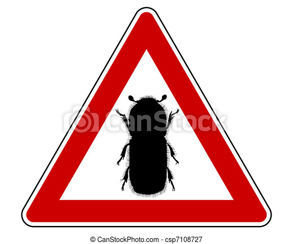 Bark-beetle attention sign - csp7108727