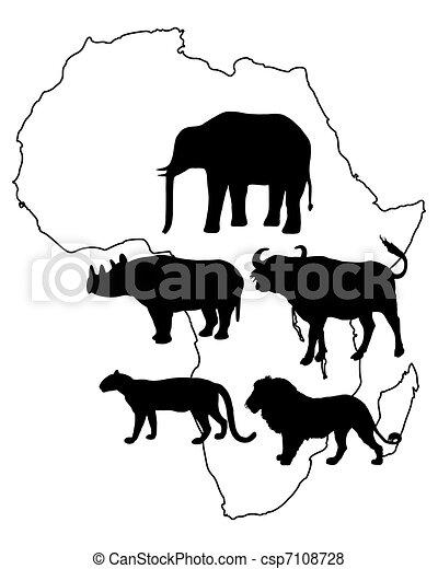 Africa Big Five - csp7108728
