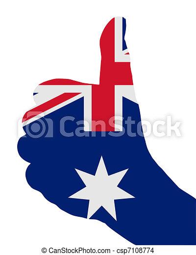 Australian hand signals - csp7108774