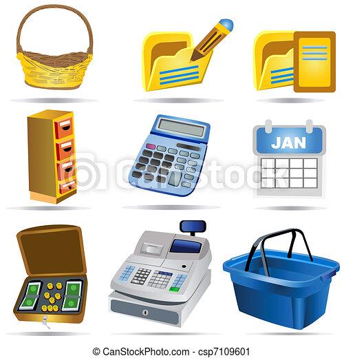 Accounting Icons Set 2 - csp7109601