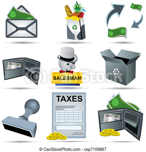 Accounting Icons Set 5 - csp7109667
