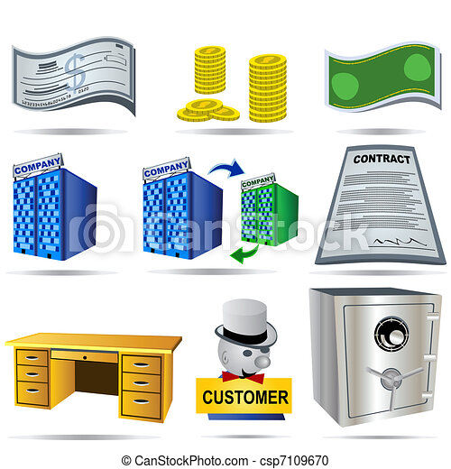 Accounting Icons Set 3 - csp7109670
