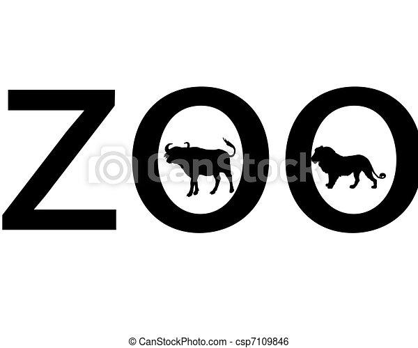 Zoo animals - csp7109846