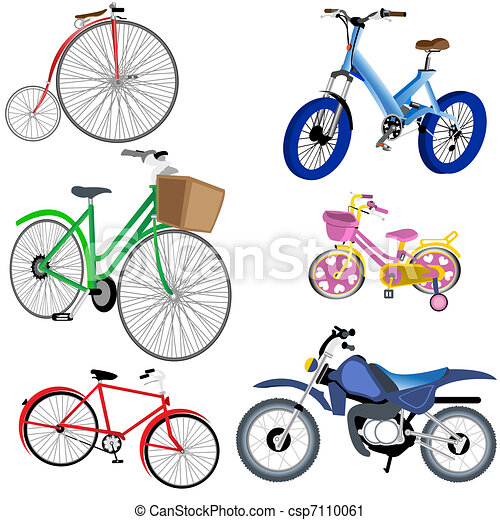 Bicycle And Motorcycle Icons - csp7110061