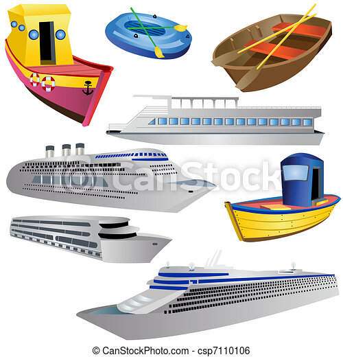 Boat Icon Set - csp7110106