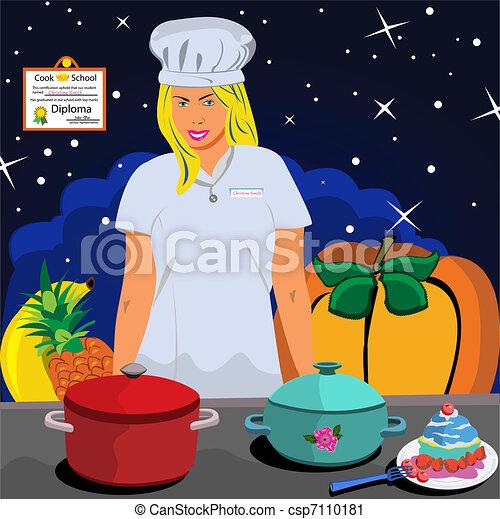Professional Cook - csp7110181