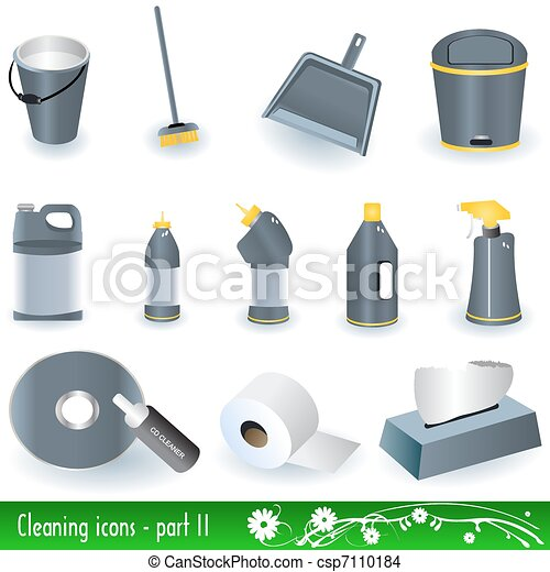 Cleaning Icons 2 - csp7110184