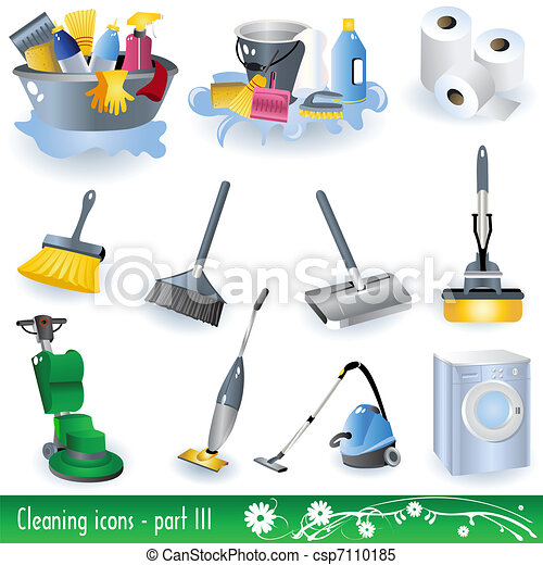 Cleaning Icons 3 - csp7110185