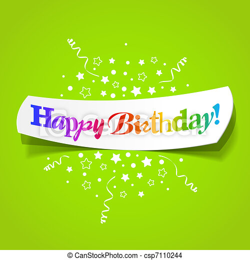 EPS Vector of Happy birthday greetings - Vector illustration of ...