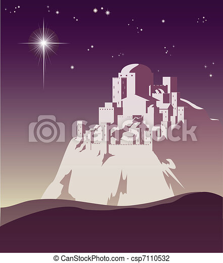 Star over Bethlehem - csp7110532