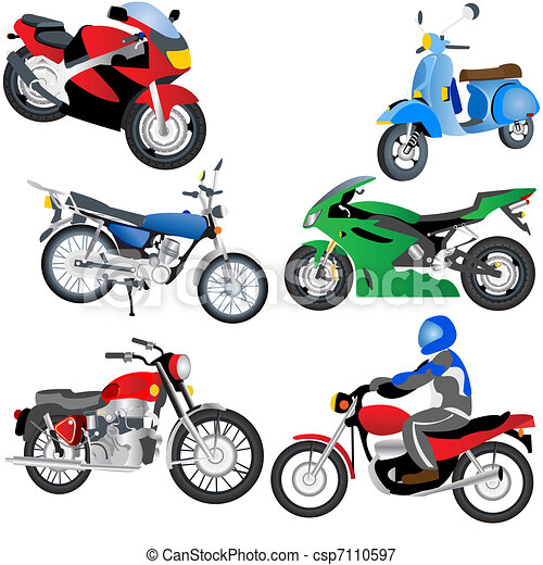 Motorcycle Icons - csp7110597