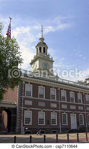 Independence Hall Philadelphia Pennsylvania - csp7110644